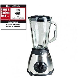 VitaSpeed-Edelstahl-Standmixer-Smoothie-Maker-mit-Glaskrug-500-Watt-15-L-Fassungsvermgen-Mixer-mit-19000-Umin-max-Edelstahl