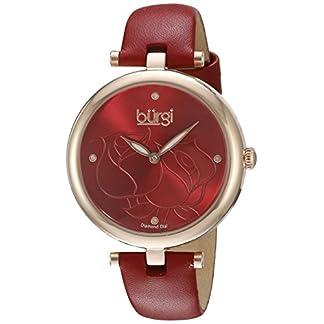 Burgi-Damen-Quarzuhr-mit-Rot-Zifferblatt-Analog-Anzeige-und-rotem-Lederband-bur151rd