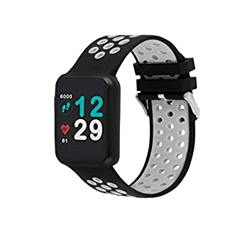 X-WATCH-54043-KETO-SUN-REFLECT-Smart-Watch-Fitness-Tracker-Pulsmesser-IP68-wasserdicht-Akku-bis-20-Tage-Android-iOS-SHINY-SILVER