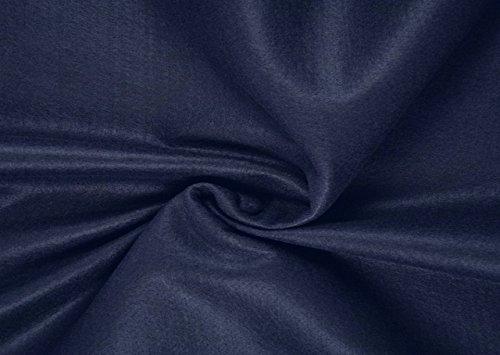 Fabrics-City FILZ STOFF 1MM-90CM DEKO BASTELN BEKLEIDUNG STOFFE, 4501 (DUNKELBLAU)