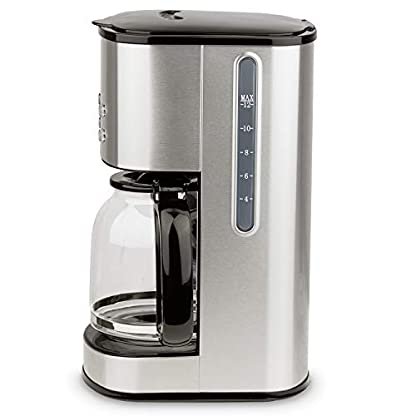 HKoenig-MG30-Kaffeefiltermaschine-12-20-Tassen-15-L-LCD-Bildschrim-programmierbar-silber