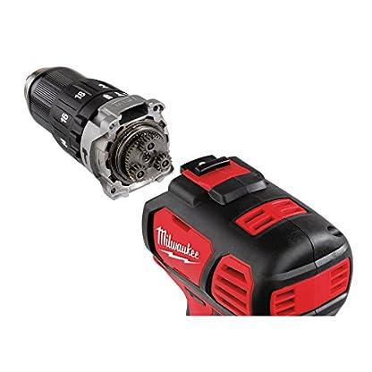 Milwaukee-18V-brushless-Schlagbohrer-Schlagschrauber-Set-M18-BLPDM18-BLID-mit-2x-Red-Li-Ion-Akkus-18V-50-Ah-und-Ladegert-inkl-Shockwave-Adapter