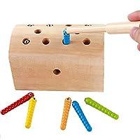 DARLINGTON-Sohns-Magnet-Geschicklichkeitsspiel-Kinder-Magnetfischen-motorische-Fhikgkeiten-Reise-Spiel-Motorik-Spiel-Schatztruhe