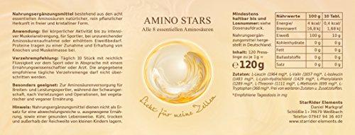 Amino Stars Eiweiss – alle 8 essentielle Aminosäuren 3 x 120g