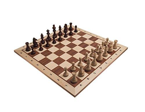 Schachset-Borislav-in-London-hell-Schachbrett-FG-58-mit-Figuren-KH-100-in-einer-Figurenbox-aus-Holz