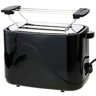 2-Scheiben-Toaster-700Watt-Doppelt-Toast-Toastautomat-Kchenzubehr-inklusive-Brtchenwrmer-mit-Krmelschublade-Sandwich-Schwarz