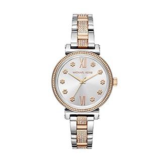 Michael-Kors-Damen-Analog-Quarz-Uhr-mit-Edelstahl-Armband-MK3880