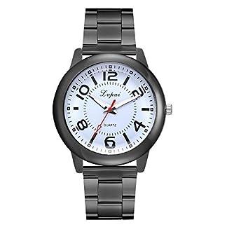 Armbanduhr-herren-Liusdh-Uhren-Quarzuhr-Edelstahl-Faltband-Uhr-Matte-Legierung-Herren-Business-Uhr