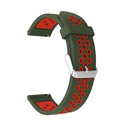 Battnot-Uhrenarmbnder-fr-Samsung-Galaxy-Watch-Active-Sport-Silikon-Uhrenarmband-Handgelenksriemen-fr-Damen-Herren-Einstellbar-Ersatzband-Adjustable-Watch-Band-Replacement-Wriststraps-20mm