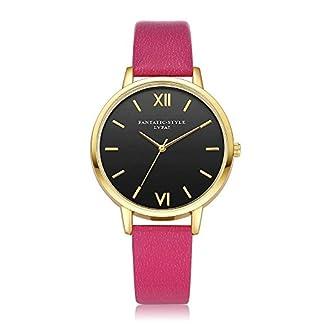 Homim-Damen-Armbanduhr-Multifarbe-PU-Lederband-gold-Farbe-Gehuse-Einfach-Frauen-Uhren-Analog-Quarzuhr-mit-Batterie