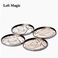 Kppto-1Pcs-Expanded-Shell-Half-Dollar-Leiter-Zaubertricks-erscheinend-Vanish-Mnze-Magie-Zubehr-Close-Up-Prop-Illusion-B1021