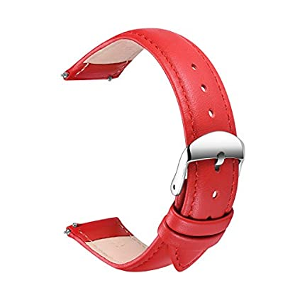 Echtes-Leder-Uhrenarmband-SONGDU-Smart-Watch-Armband-Schnellverschluss-Ersatzband-fr-Herren-Damen-mit-Edelstahl-Metall-Schliee-16mm-18mm-20mm-22mm-24mm