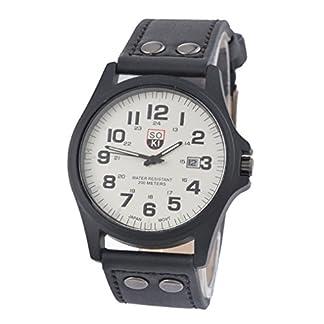 MJARTORIA-Herren-Analog-Quarzuhr-schwarz-PU-Leder-Armband-Weiss-Zifferblatt-Uhr-Mnner-Jungen-Armbanduhr-Geschenk