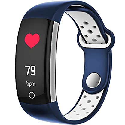 Fitness-Tracker-Farbdisplay-Schrittzhler-Herzfrequenzmonitor-Blutdruck-Blutsauerstoff-Aktivittstracker-Damen-Herren