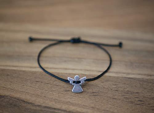 Nuoli® Schutzengel Armband (deutsche Handarbeit) Glücksbringer Armband Frauen und Mädchen, Engel Anhänger Silber