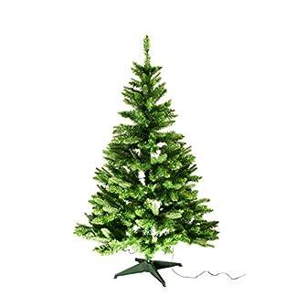 Best-Season-PEPVC-Weihnachtsbaum-150-cm-mit-Beleuchtung-100-Plastik-Grn-90-x-90-x-150-cm