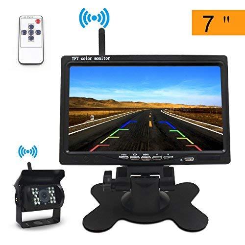 Rckfahrkamera-Funk-Rckfahrkamera-Drahtlos7-TFT-LCD-Monitor-24GHz-12V-24V