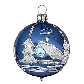 Jingle-Bells-Lauscha-4er-Set-8cm-Kugel-Knigsblau
