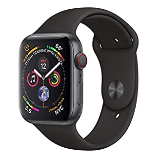 Apple-Watch-Series-4-GPS-Cellular-44-mm-Aluminiumgehuse-Space-Grau-mit-Sportarmband-Schwarz