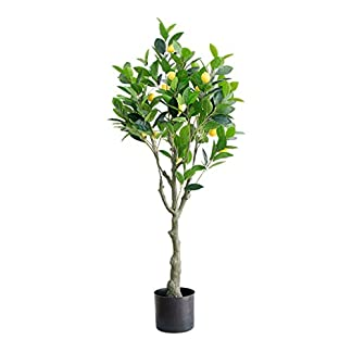 XUANLAN-Realistischer-knstlicher-Baum-Groer-Boden-knstliche-Zitronenbaum-Simulationsanlage-vergossenes-Hauptfenster-Dekorations-Grnpflanze-Leicht-zu-reinigen