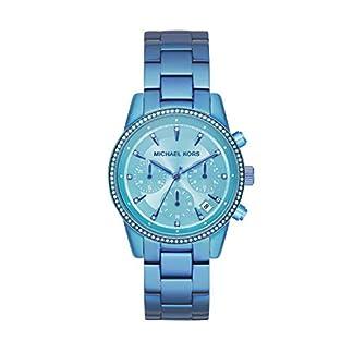 Michael-Kors-Damen-Chronograph-Quarz-Uhr-mit-Edelstahl-Armband-MK6684