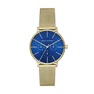 Armani-Exchange-Damen-Analog-Quarz-Uhr-mit-Edelstahl-Armband-AX5554