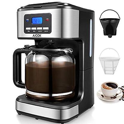 Kaffeemaschine-Aicok-Filter-Kaffeemaschinen-Anti-Drip-Funktion-Automatische-Warmhaltefunktion-LED-Anzeige-Glaskanne-fr-1-12-Tassen-Permanent-Filter-Schwarz