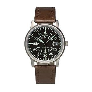 Aristo-Vollmer-5H85–Armbanduhr-Lederband-braun