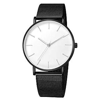 Armbanduhr-mnner-Liusdh-Uhren-Antike-franzsische-goldene-Zeigeruhr-mit-mattem-Zifferblatt-und-schwarzem-Edelstahlgrtel-uhr