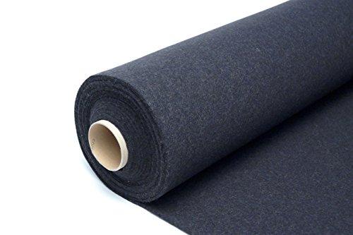 100% Wollfilz Graphit 900g/m2 Filz Filzstoff 1lfm Taschenstoff 200cm Breite 3mm Stark Meterware Textil Qualität Naturfilz