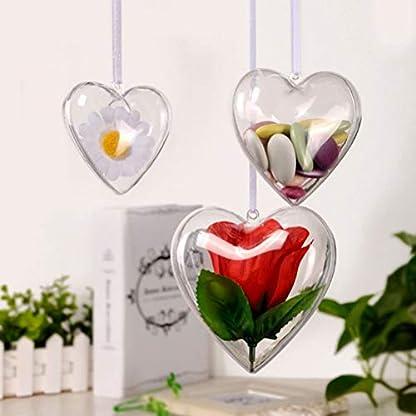 Amosfun-Acrylformen-Kunststoff-Fllbar-Teilbar-Deko-Herz-Hnger-Bastelkugel-mit-Aufhngese-Hochzeit-Valentinstag-Hngende-Dekoration-6cm-10-Stck-Transparent