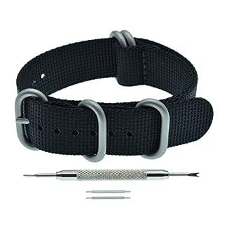 Nylon-Uhrenarmband-Ersatz-5-Ringe-15-mm-Dicke-18mm-19mm-20mm-21mm-22mm-23mm-24mm