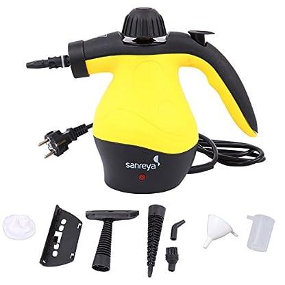 Paneltech-1050-Watt-Handdampfreiniger-3-Bar-Mehrzweckdruckbetriebener-tragbarer-Handdampf-mit-9-Stck-Zubehr-fr-Fleckenentfernung-Teppiche-Vorhnge-Bettwanzensteuerung-Autositze