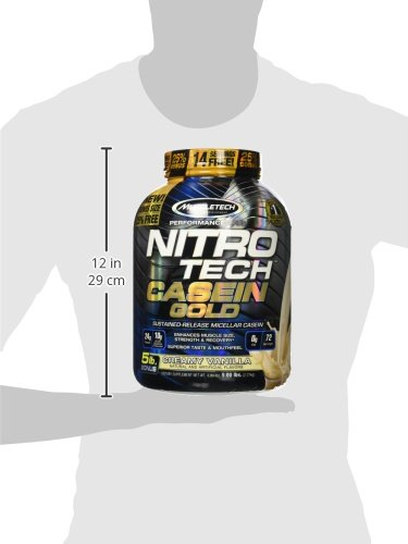 Muscletech Performance Series Nitro Tech Casein Gold, Creamy Vanilla, 2304 g