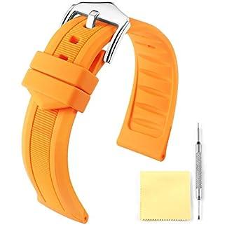 BINLUN-Silikon-Gummi-Uhrenarmband-Smart-Watch-Uhren-Armband-WeiRotSchwarzBlauOrange12mm14mm16mm18mm19mm20mm21mm22mm24mm