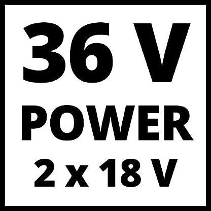Einhell-RASARRO-Akku-Rasenmher-Li-Ion-36-V-bis-450-m-38-cm-Schnittbreite-Brushless-Motor-6-stufige-zentrale-Schnitthhenverstellung-inkl-Mulchkeil-2-x-40-Ah-Akku-und-Twincharger