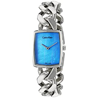 Calvin-Klein-Damen-Analog-Quarz-Uhr-mit-Edelstahl-Armband-K5D2M12N