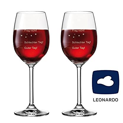 2er-SET-2-Stck-Leonardo-Premium-Weinglas-Stimmungsglas-Guter-Tag-Schlechter-Tag-Frag-nicht-365-ml-mit-Gravur-Rotweinglas-Weiweinglas-originelles-Geschenk-Leonardo