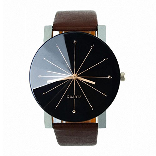 Franterd-Herren-Armbanduhr-Quarzuhr-Armbanduhr-Elegant-Uhr-Modisch-Zeitloses-Design-Klassisch-Leder-Kaffee