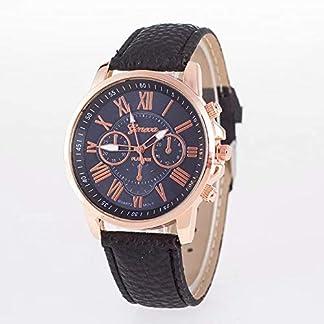 Waymeduo-Mode-Kunstleder-Herren-Glas-Quartz-Uhren