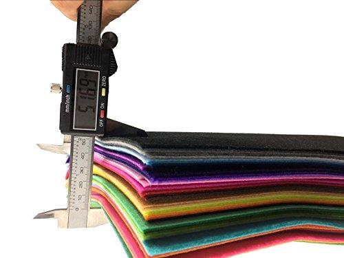 48Pcs Filzstoff Farbig Bastelfilz Steif Vliesstoff DIY Handwerk Projekte Patchwork Stoffe Filz Paketzum Nähen 30cm X 20cm X 1mm