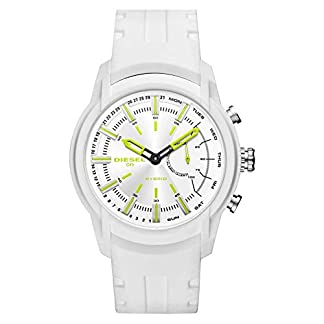 Diesel-Herren-Analog-Quarz-Smart-Watch-Armbanduhr-mit-Silikon-Armband-DZT1015