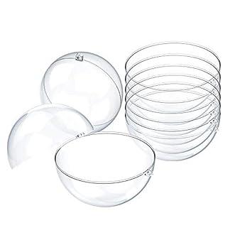 Onepine-15-Stck-Acrylkugeln-7cm-Transparente-Weihnachtskugeln-15er-Set-Kunststoffkugel-fr-Weihnachtsbaum-Deko-Sigkeiten-Box-Geschenk-Dekoration