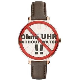 Fossil-Uhrband-Wechselarmband-LB-ES3707-Original-Ersatzband-ES-3707-Uhrenarmband-Leder-14-mm-Grau