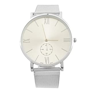 MJARTORIA-Paar-Armbanduhr-Damen-Deko-Quarz-Uhr-Charm-Geschenk-Silber-Farbe