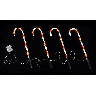LED-Zuckerstange-4er-Set-Weihnachts-Dekoration-Auen-Garten-Deko
