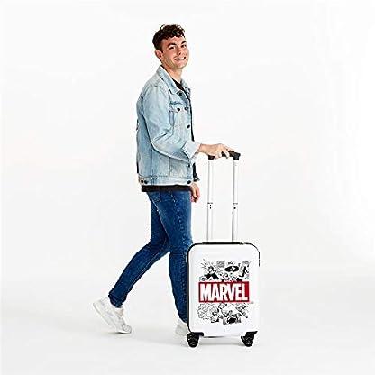 Marvel-Comic-Kindergepck-55-cm-33-liters-Wei-Blanco