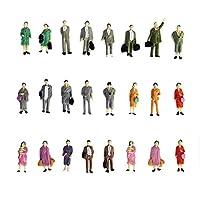 Naisicatar-24X-Painted-Modellbahn-Steht-Haltung-Menschen-Figuren-Mastab-HO-1-bis-87-Simulation-PeopleToy-Mischfarbe-Interessantes-Spielzeug