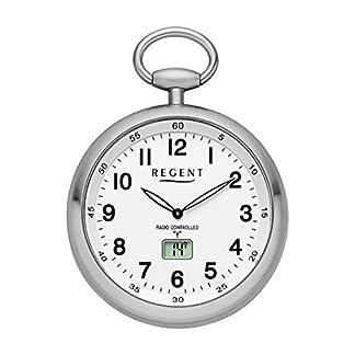 Regent-Unisex-Armbanduhr-Analog-digital-Quarz-Funk-One-Size-wei-Silber