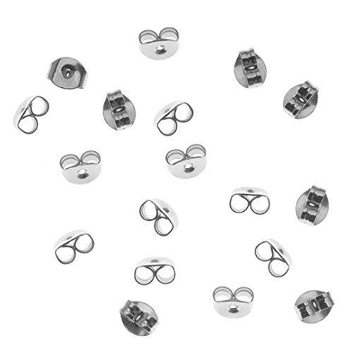 Ohrring-Stopper / Ohrstecker-Verschluss, Sterlingsilber, 5 mm, 12 Stück